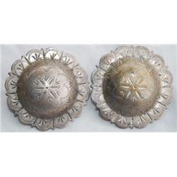 """Keyston Bros 1 3/4"""" silver conchos"""