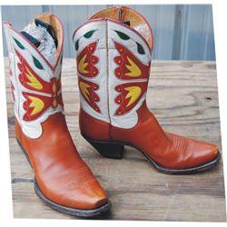 1940's Olsen Stelzer inlaid boots