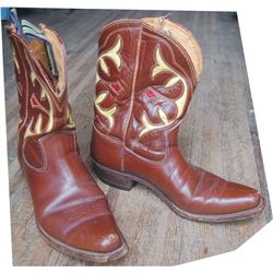 1940's custom made inlaid boots