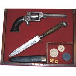 cased 1870's gambler's set, J P Lower #2148 .32 pistol