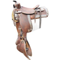 documented Gene Autry saddle, 1940's era with lots of nickel silver mountings