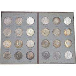 24 Ike silver dollars