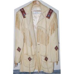 very nice Richie beaded buckskin coat