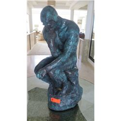 """Thinker"" Statue by A. Rodin (Bronze? Mixed Metal?)"