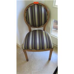 Round-Back Wooden Chair, Striped