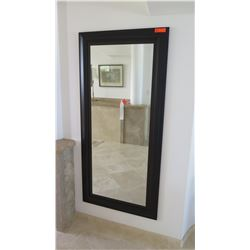 "Tall Black-Framed Mirror, 31.5"" X 67.5"""