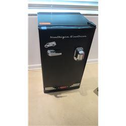 "Black ""Nostalgia Electrics"" Mini Refrigerator, 18.5"" X 17"" X 33""H"