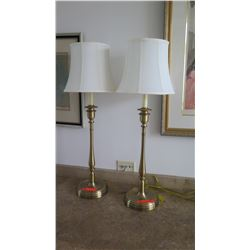 "Pair: Buffet Table Lamps, Approx. 32.5"" H"