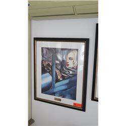 "Framed Art ""Self Auto Portrait"" by De Lempicka"