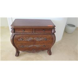 Small Bombe Chest w/Carved Accents