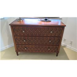 3-Drawer Chest (Dresser) with Carved Accents