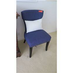 Blue Upholstered Side Chair (pillow not included)