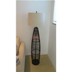 """Black Contemporary Floor Lamp, Approx. 61"""" H"""