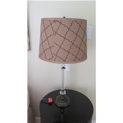 """Table Lamp w/ Clear """"Candlestick"""" Base, Approx. 28"""" H"""
