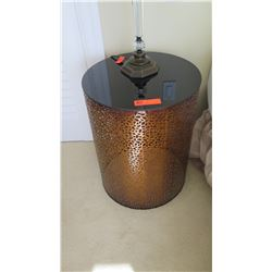 Metal Cylinder Side Table