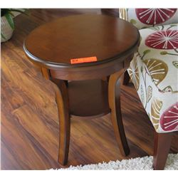 "Round Wooden Side Table, 22.5"" Dia. 18"" H"