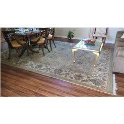 Large Wool Area Rug, Beige/Lt. Brown/White, 9ft X12 ft
