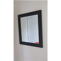 """Mirror w/  Matte Black Frame, Approx. 34.5"""" X 28"""""""