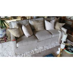 Lt. Beige Sofa (accent pillows not included)