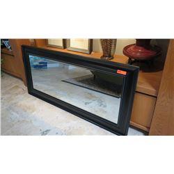 """Black Framed Mirror, 31.5"""" X 67.5"""""""