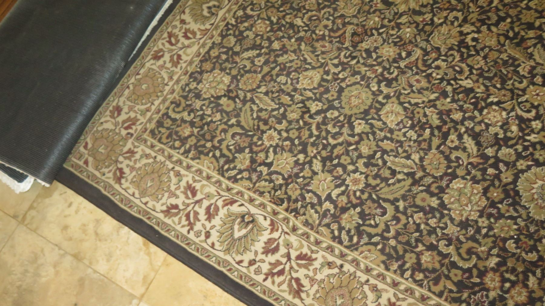Large Area Rug Black Beige Brown Blue Border 8 X 11 Made In Egypt Oriental Weavers Oahu Auctions
