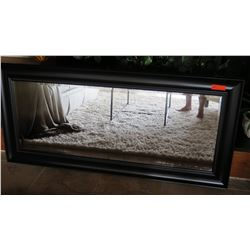 "Black Framed Mirror w/ Metallic Stud Accent Border, 31.5"" X 67.5"""