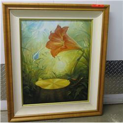 "Framed Giclee on Painting ""Music of the Woods"" Vladimir Kush, $1485 Retail"