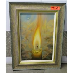 """""""Candle"""" Giclee on Canvas, by Vladimir Kush, Signed Ltd. Ed. 20.5"""" X 27"""" Woman in Candle Flame"""