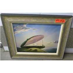 """""""The Pearl"""" Giclee on Canvas, by Vladimir Kush, Signed Ltd. Ed. 21.5"""" X 25"""""""