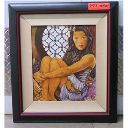 Girl Sitting by Window, Giclee on Canvas, 18X20 Signed Ltd. Ed. 1 of 950