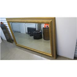 "Mirror w/Ornate Gilt Frame 70"" X 47"""
