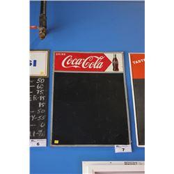 TIN DRINK COCA-COLA CHALKBOARD