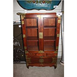 ANTIQUE CHINESE STYLE WOOD CABINET