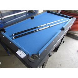 SMALL POOL TABLE WITH CUES & BALLS 34X61X32 B1