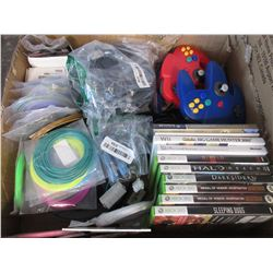 ASSORTED VIDEO GAMES/COMPUTER SOFTWARE/SPOOLS OF 3D PRINTER PLASTIC/MISC