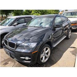 2011 BMW X6 35I, 4DR SUV, BLACK, VIN # 5UXFG2C50BLX06538