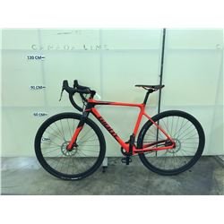 ORANGE GIANT TCX SINGLE SPEED ROAD BIKE WITH FRONT AND REAR HYDRAULIC DISC BIKES