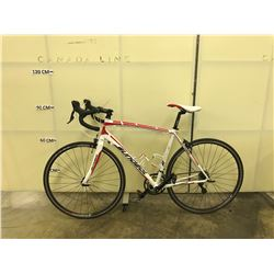 WHITE AND RED SUNDEAL 18 SPEED RACE BIKE