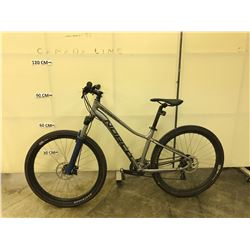 GREY NORCO STORM 21 SPEED FRONT SUSPENSION DIRT JUMPING BIKE WITH FRONT AND REAR DISC BIKES