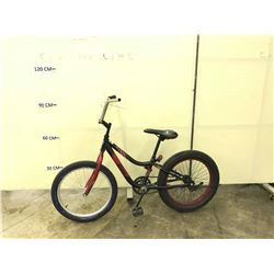 BLACK AND RED WICKED GRIZZLY KIDS BIKE