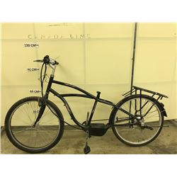 BLACK TRACKER ELECTRIC ASSIST BIKE MISSING BATTERY AND SEAT