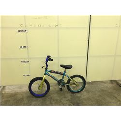 BLUE INFINITY KIDS BIKE