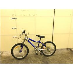 BLUE AND GREY INFINITY PARK KIDS MOUNTAIN BIKE