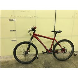 RED SPECIALIZED ROCK HOPPER 24 SPEED FRONT SUSPENSION MOUNTAIN BIKE WITH FRONT AND REAR DISC BRAKES