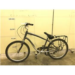 GREY SUEDE 7 SPEED CRUISER BIKE