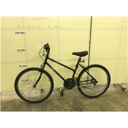 BLACK HUFFY 10 SPEED MOUNTAIN BIKE