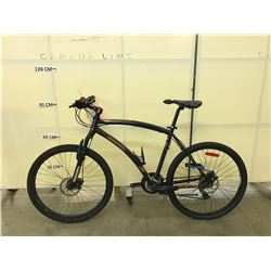 GREY DIADORA CORSO 21 SPEED FRONT SUSPENSION MOUNTAIN BIKE WITH FRONT AND REAR DISC BRAKES