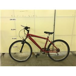 RED NO NAME 21 SPEED FRONT SUSPENSION MOUNTAIN BIKE
