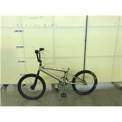 BROWN BMX BIKE NO SEAT NO BRAKES NO CHAIN