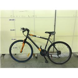 GREY SUPERCYCLE NITRO 18 SPEED FRONT SUSPENSION TRAIL BIKE